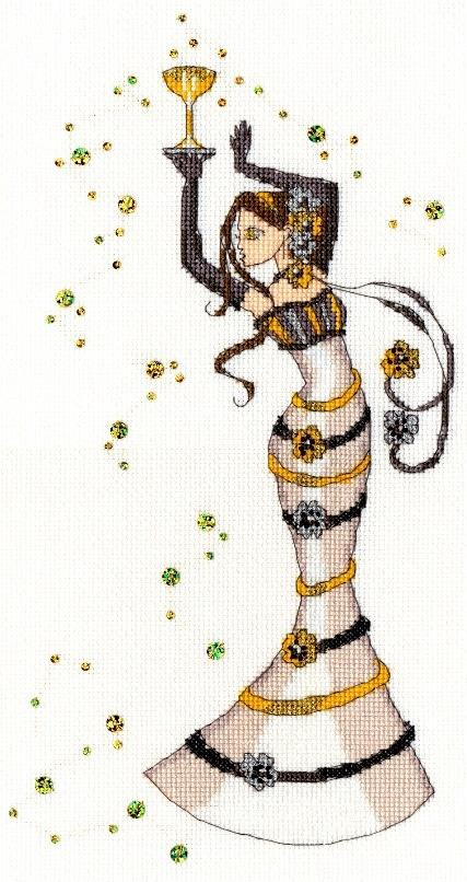 click here to view larger image of Champagne (counted cross stitch kit)