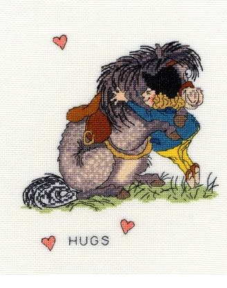 click here to view larger image of Hugs (counted cross stitch kit)