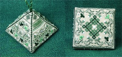 click here to view larger image of Pretty Pyramid 3 - Shamrocks Rock! (counted cross stitch kit)