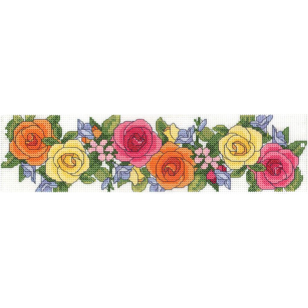 click here to view larger image of Spring Rose Garden - Candle Corset (counted cross stitch kit)