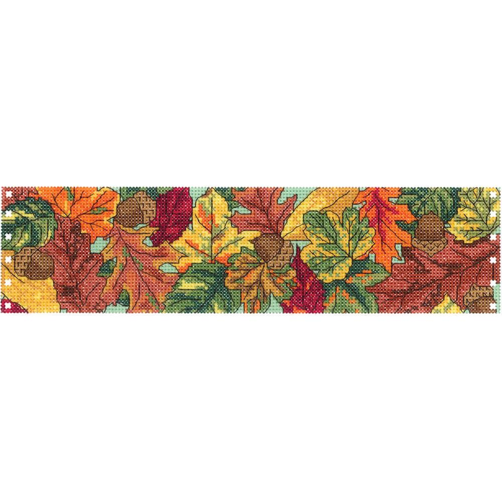 click here to view larger image of Autumn Leaves - Candle Corset (counted cross stitch kit)