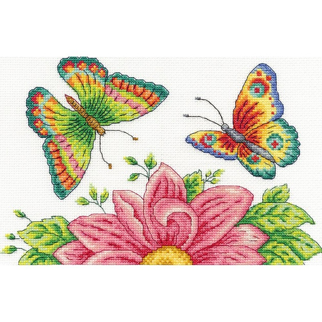click here to view larger image of Butterfly Garden (counted cross stitch kit)