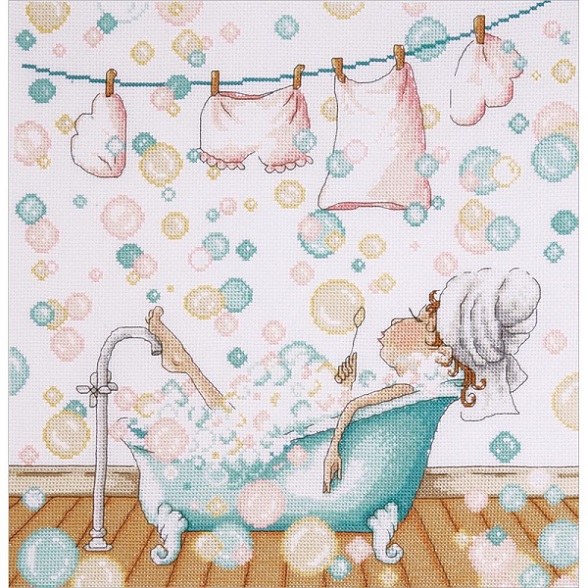click here to view larger image of Blowing Bubbles (counted cross stitch kit)