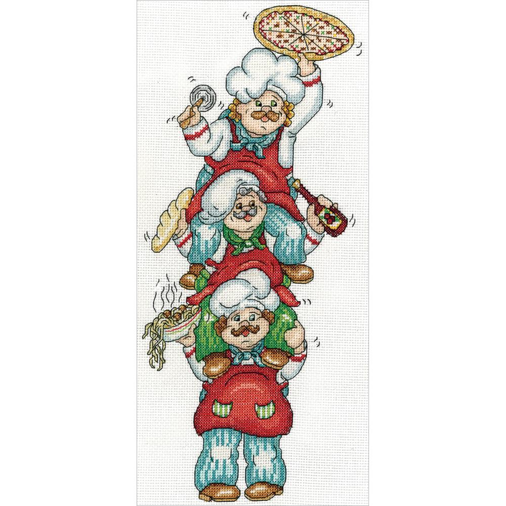 click here to view larger image of Pizza Delivery (counted cross stitch kit)