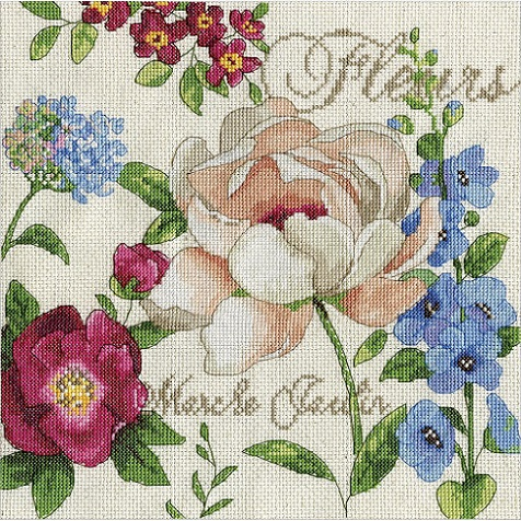 click here to view larger image of Marche Jardin (counted cross stitch kit)