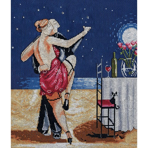 click here to view larger image of Nighttime Tango (counted cross stitch kit)