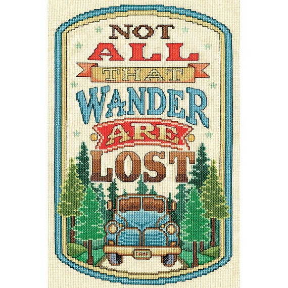 click here to view larger image of All That Wander (counted cross stitch kit)