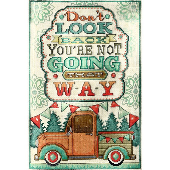 click here to view larger image of Dont Look Back (counted cross stitch kit)