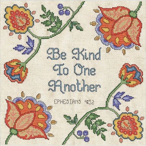click here to view larger image of Be Kind (counted cross stitch kit)