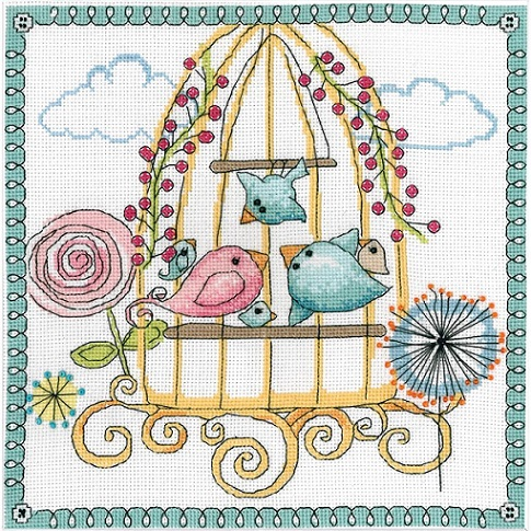 click here to view larger image of Birdcage (counted cross stitch kit)