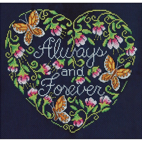 click here to view larger image of Always And Forever (counted cross stitch kit)