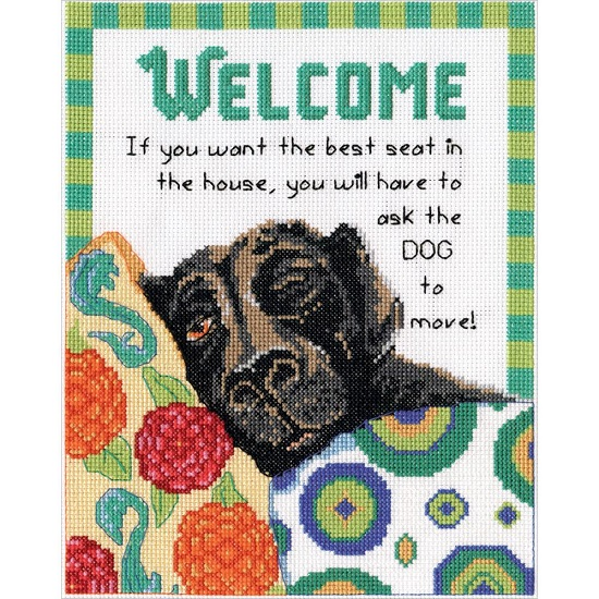 click here to view larger image of Best Seat Welcome (counted cross stitch kit)