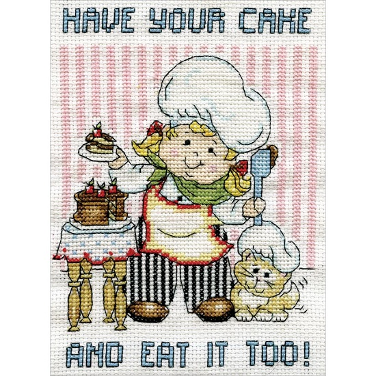 click here to view larger image of Cake Chef (counted cross stitch kit)