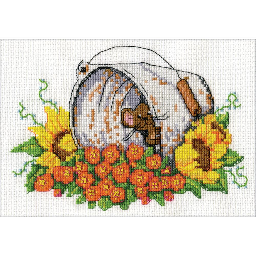 click here to view larger image of Bucket Mouse (counted cross stitch kit)