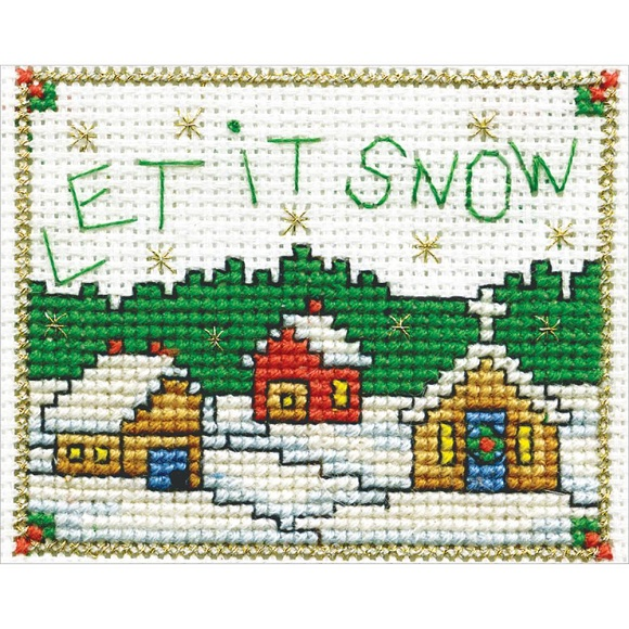 click here to view larger image of Let It Snow (includes frame) (counted cross stitch kit)