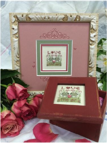 click here to view larger image of Love Is In The Air Box (counted cross stitch kit)