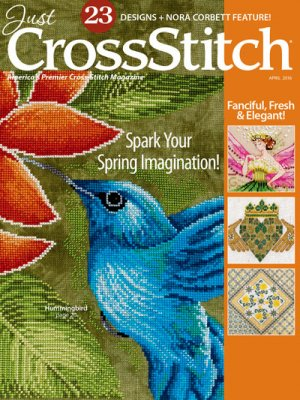 click here to view larger image of Just Cross Stitch - April 2016 (magazines)