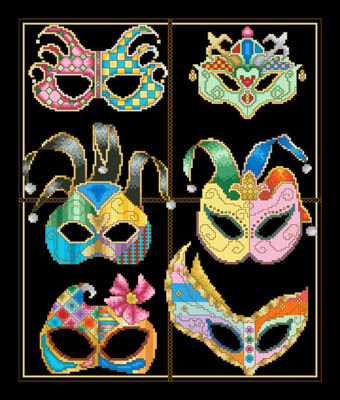 click here to view larger image of Festive Masks (chart)