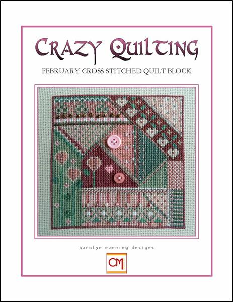click here to view larger image of Crazy Quilting - February Block (chart)