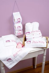 click here to view larger image of Hello Kitty Hand Towels - Set of 2 (counted cross stitch kit)