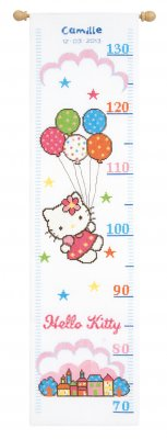 click here to view larger image of Hello Kitty Height Chart (counted cross stitch kit)