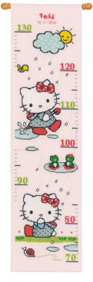 click here to view larger image of Hello Kitty Rainy Height Chart (counted cross stitch kit)