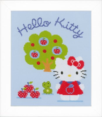 click here to view larger image of Hello Kitty Apple Tree (counted cross stitch kit)