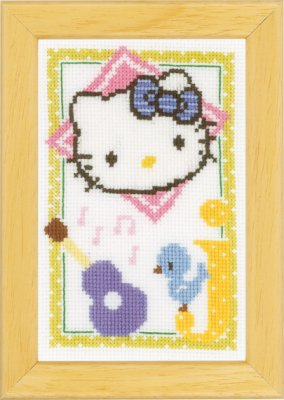 click here to view larger image of Hello Kitty - Letter J (counted cross stitch kit)