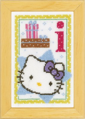 click here to view larger image of Hello Kitty - Letter I (counted cross stitch kit)