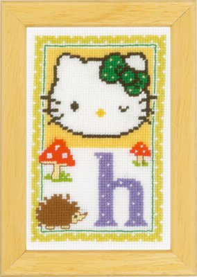 click here to view larger image of Hello Kitty - Letter H (counted cross stitch kit)