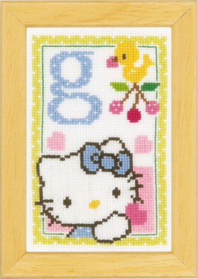 click here to view larger image of Hello Kitty - Letter G (counted cross stitch kit)