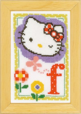 click here to view larger image of Hello Kitty - Letter F (counted cross stitch kit)