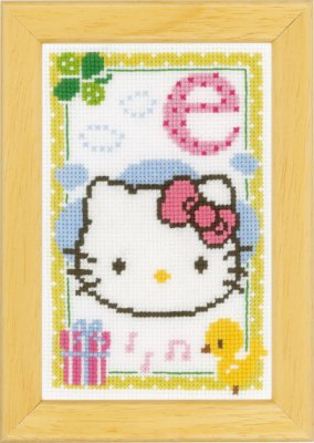 click here to view larger image of Hello Kitty - Letter E (counted cross stitch kit)