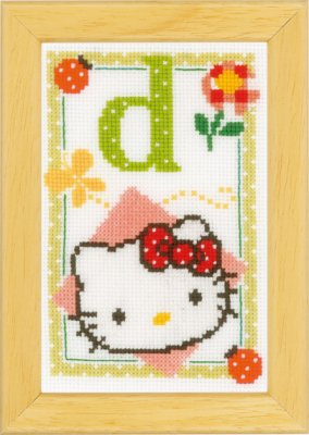 click here to view larger image of Hello Kitty - Letter D (counted cross stitch kit)