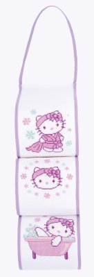 click here to view larger image of Hello Kitty Toilet Roll Holder (counted cross stitch kit)