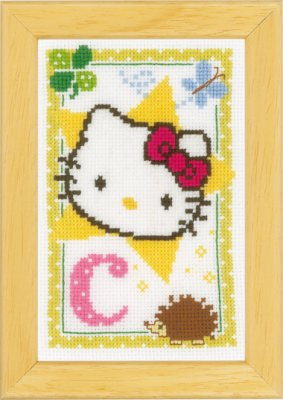 click here to view larger image of Hello Kitty - Letter C (counted cross stitch kit)