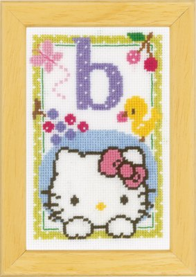 click here to view larger image of Hello Kitty - Letter B (counted cross stitch kit)