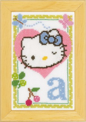 click here to view larger image of Hello Kitty - Letter A (counted cross stitch kit)
