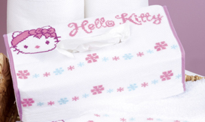 click here to view larger image of Hello Kitty Tissue Box Cover (counted cross stitch kit)