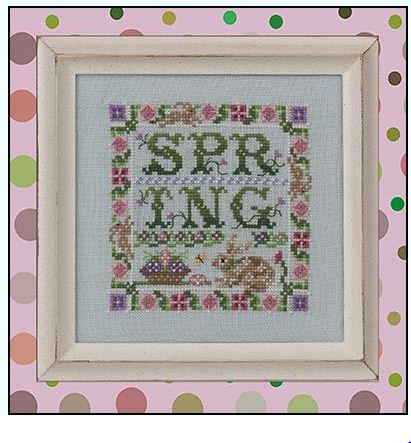 click here to view larger image of Spotted Hare Spring (includes embellishment pack) (chart)