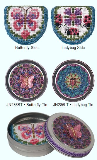 click here to view larger image of Pink Ladies Needlebook and Needlebook Tin - PINK BUTTERFLY  (Limited Edition) (chart)