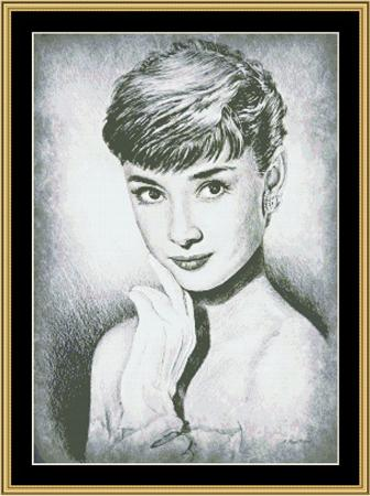click here to view larger image of Audrey Hepburn Star (chart)