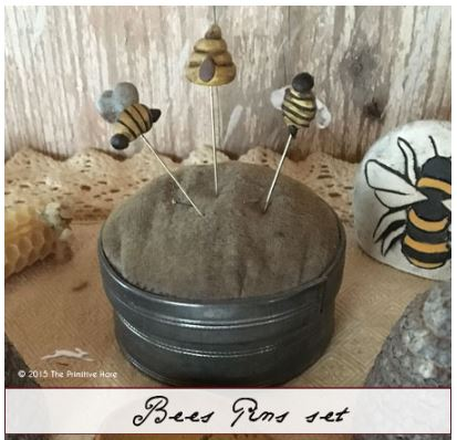 click here to view larger image of Bees Pin Set (accessory)
