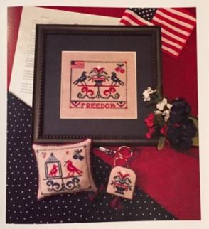 click here to view larger image of Freedom - Three For Thee 2 (chart with charms/buttons)