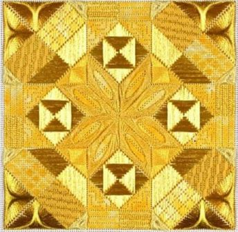click here to view larger image of Glitz & Glamour Citrine (counted canvas chart)