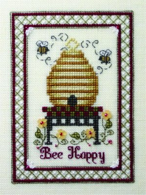 click here to view larger image of Bee Happy (chart with charms/buttons)