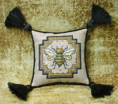 click here to view larger image of Bee Pincushion (chart with charms/buttons)