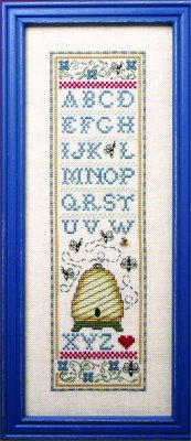 click here to view larger image of Skinny Bee Sampler (counted cross stitch kit)