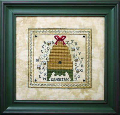 click here to view larger image of Alphabet Bee Skep (counted cross stitch kit)