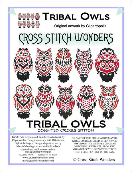 click here to view larger image of Tribal Owls (chart)